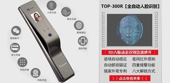 顶吉TOP300R智能门锁,品牌实力树立行业典范